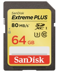 64GB Sandisk Extreme - UHS-I SD Card