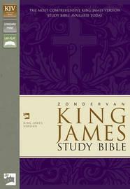 KJV Zondervan Study Bible, Leathersoft, Purple/Green by Zondervan Publishing image