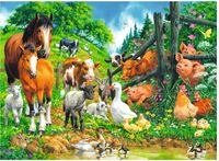 Ravensburger : Animal Get Together Puzzle 100pc