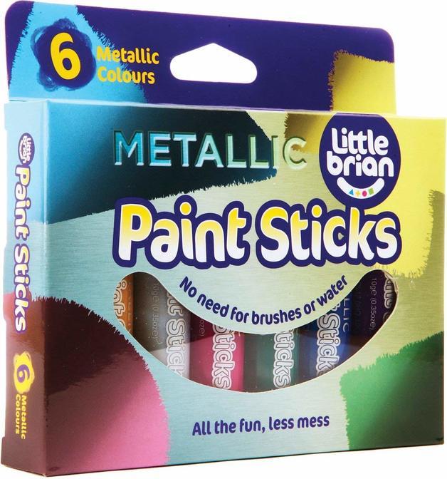 Little Brian: Paint Sticks - Metallic (6 Pack)