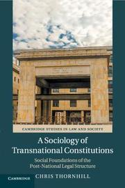 Cambridge Studies in Law and Society by Chris Thornhill