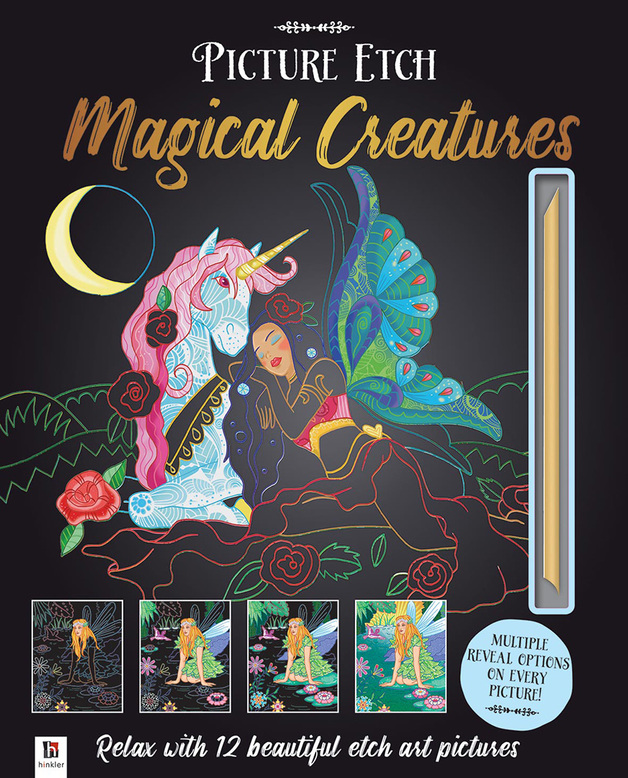 Hinkler: Picture Etch - Magical Creatures