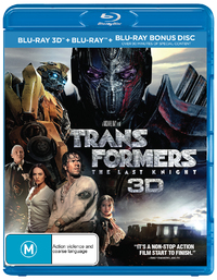 Transformers: The Last Knight on Blu-ray, 3D Blu-ray image