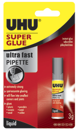 UHU: Superglue Pipette carded (3ml)