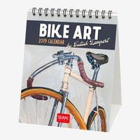 Bike Art 2019 Desk Calendar