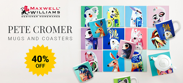 40% off Pete Cromer Mugs & Coasters!