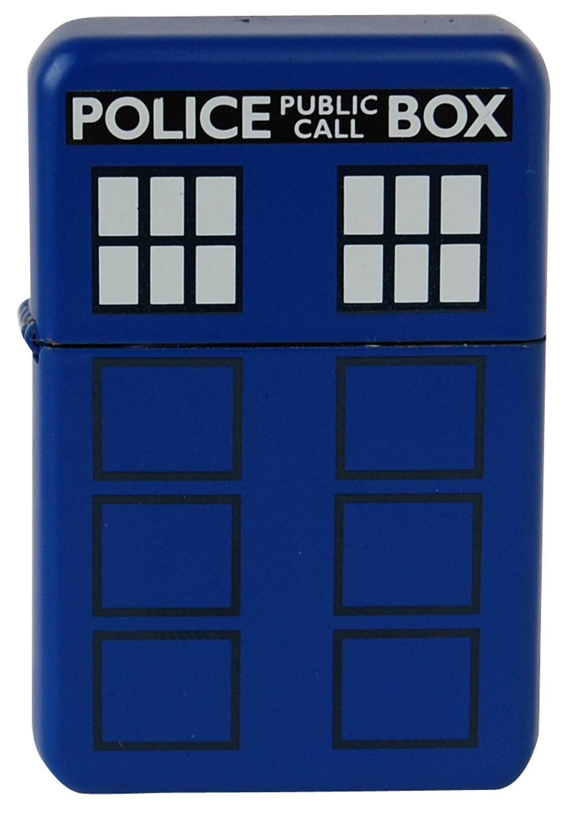 Police Box Windproof Lighter - Matte Blue image