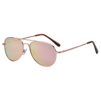 Frankie Ray Jet Aviator Sunglasses - 3+ Years (Rose Gold)