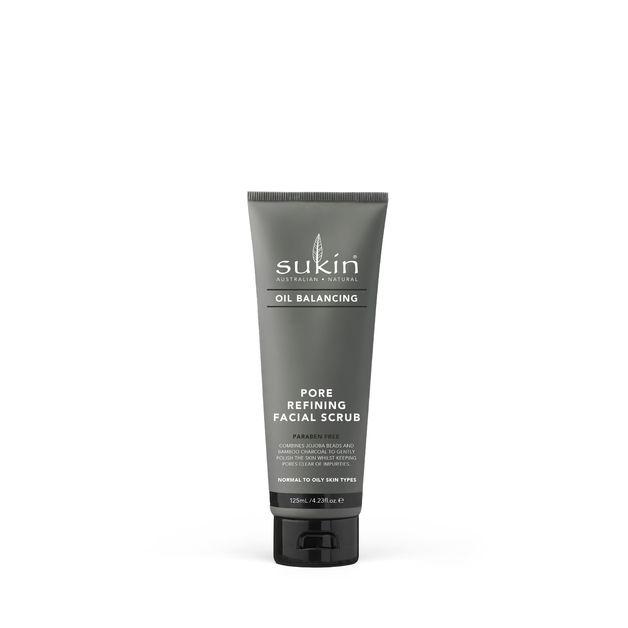 Sukin Oil Balancing + Charcoal Pore Refining Facial Scrub (125ml)