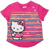 Hello Kitty Pink Stripe T-Shirt (Size 6)