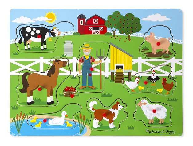 Melissa & Doug: Old MacDonald's Farm - Sound Puzzle