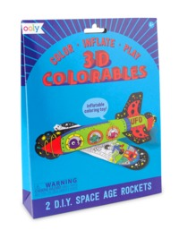 Ooly: 3D Colorables Activity Kit - Space Age Rockets