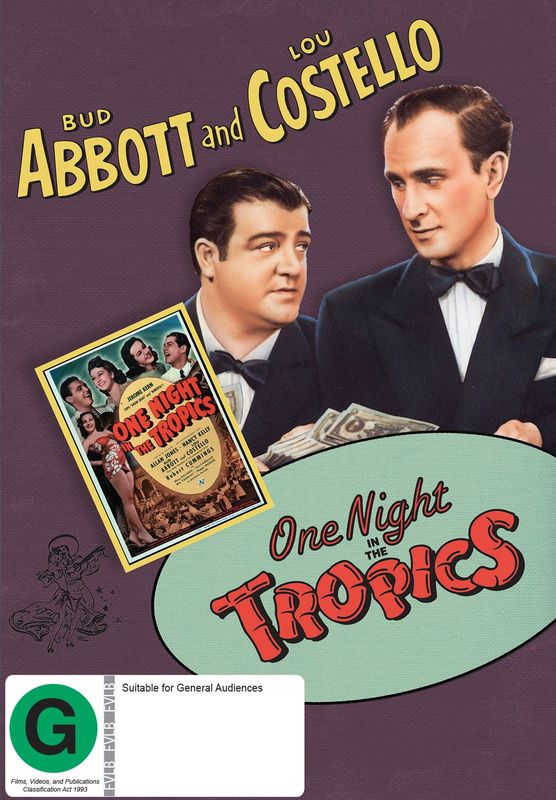 Abbott And Costello: One Night In The Tropics on DVD