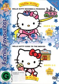 Hello Kitty Becomes A Princess / Hello Kitty Goes To The Movies on DVD image