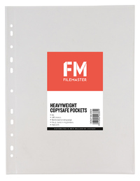 FM Heavy Duty Copysafe Pockets Punched A4 180 Micron (Pack 5)
