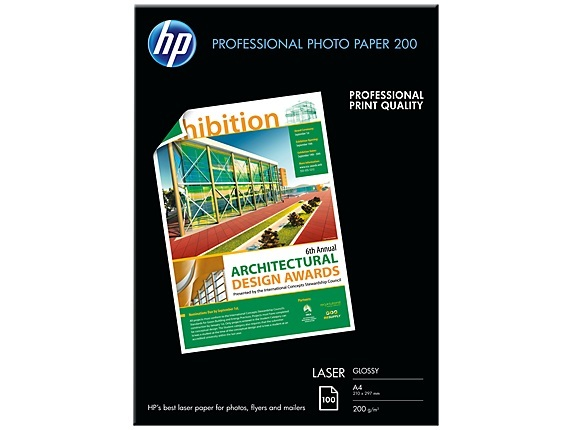 HP Professional Laser Photo Paper Glossy EMEA A4 (100 Sheets)