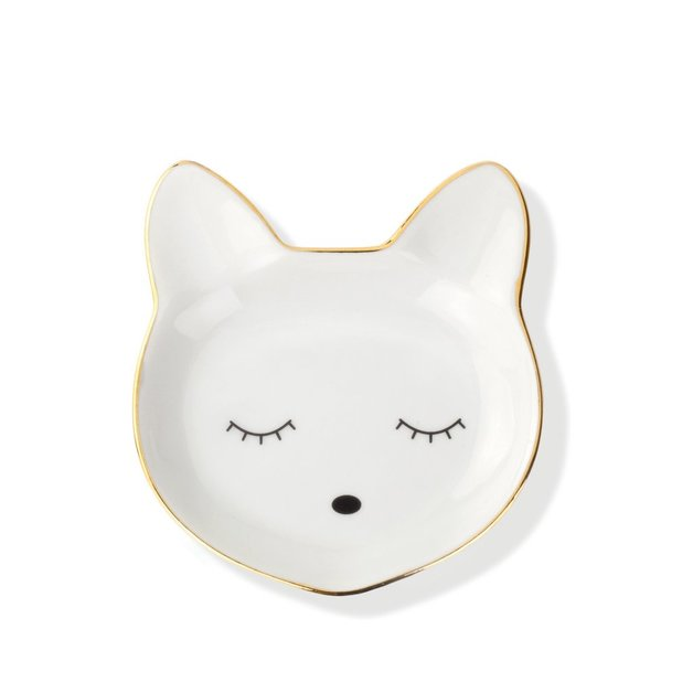 Cat Face Silhouette Tray