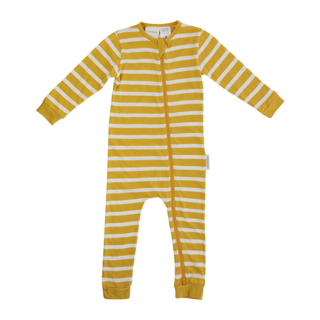 Woolbabe: Merino Organic Cotton PJ Suit - Kowhai (3 Years)