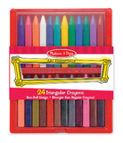 Melissa & Doug: Triangular Crayons 24 pack
