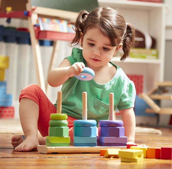 Melissa & Doug: Wooden Geometric Stacker image