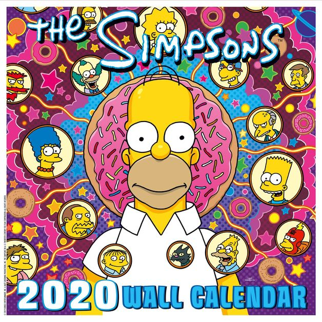 Official The Simpsons 2020 Square Wall Calendar