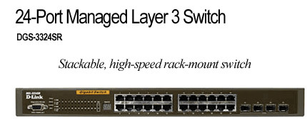 D-Link DGS-3324SR, 24 PORT GIGABIT LAYER 3, STACKABLE