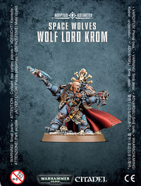 Warhammer 40,000 Space Wolves Wolf Lord Krom
