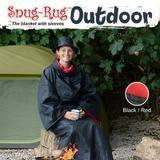 Snug-Rug: Outdoor Blanket with Hat (Black/Red)