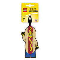 LEGO Luggage Tag Hot Dog Man