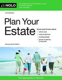Plan Your Estate by Denis Clifford