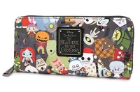Loungefly: Nightmare Before Christmas - Chibi Zip-Around Wallet