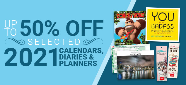 Up to 50% off Selected 2021 Calendars, Diaries & Planners!