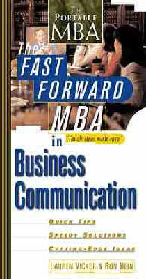 The Fast Forward MBA in Business Communication by Lauren Vicker image