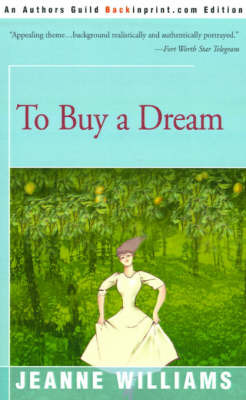 To Buy a Dream by Jeanne Williams image