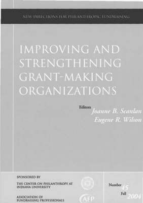 Improving and Stregthening Grant Making Organizations