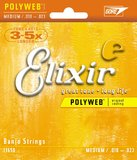 Elixir 5 String Medium 10-23 Nickel Plated PolyWeb Coating - Banjo Strings