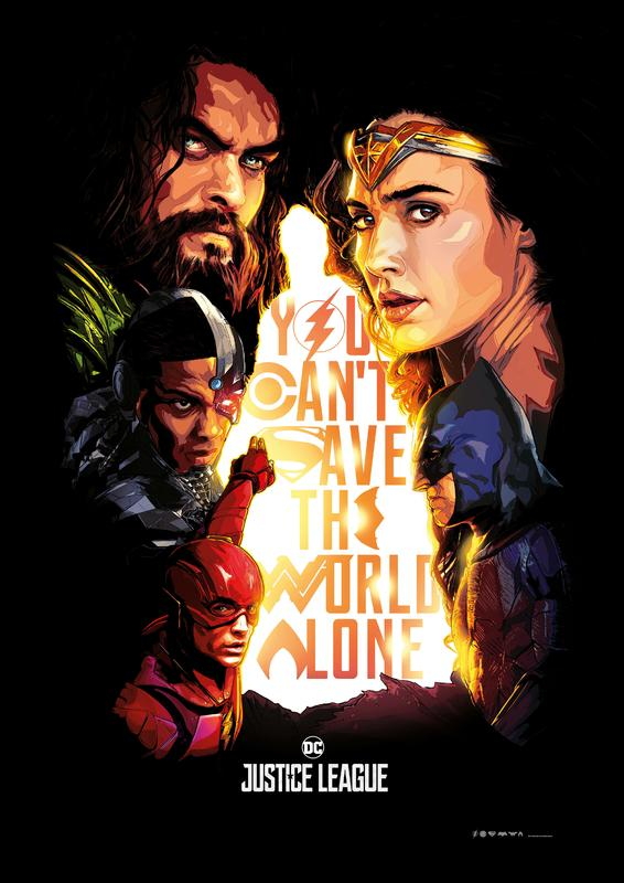 "Justice League ""You Can't Save the World Alone"" Poster"