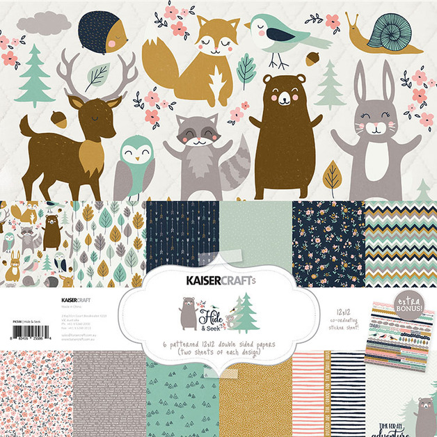 Kaisercraft: Paper Pack with Bonus Sticker Sheet - Hide & Seek
