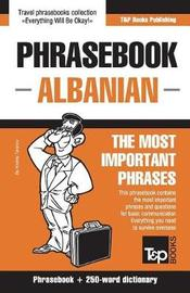 English-Albanian Phrasebook and 250-Word Mini Dictionary by Andrey Taranov image