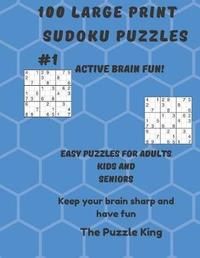 100 large print sudoku puzzles by Puzzle King