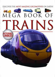 Mega Book of Trains by Lynne Gibbs image