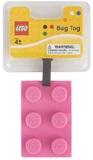 LEGO Stationery - Luggage Bag Tag Brick Shape (Pink)