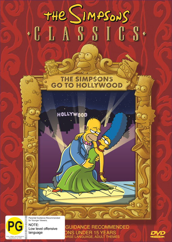 The Simpsons Classics - The Simpsons Go To Hollywood on DVD