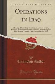 Operations in Iraq by Unknown Author