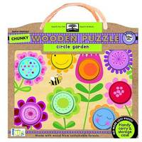 Green Start Chunky Wooden Puzzles - Circle Garden: Earth Friendly Puzzles with Handy Carry & Storage Case