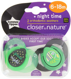 Closer to Nature Night Time Soother: 6-18 Months (Good Night) - 2 Pack