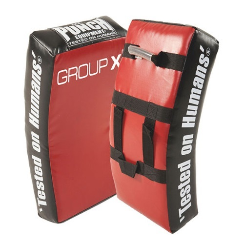 Punch: Group X Kick Shield - (Red/Black)