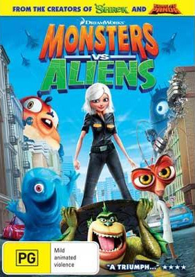 Monsters vs Aliens (Single Disc) on DVD image