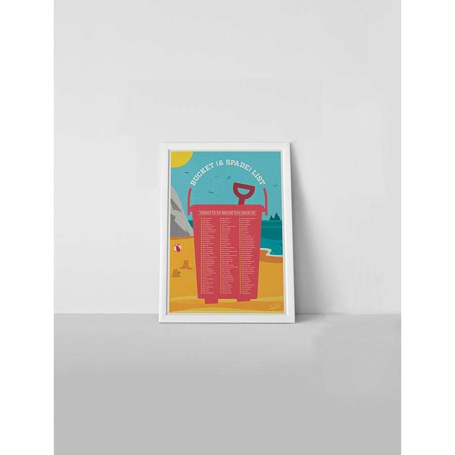 Bucket & Spade List - Scratchable Poster image