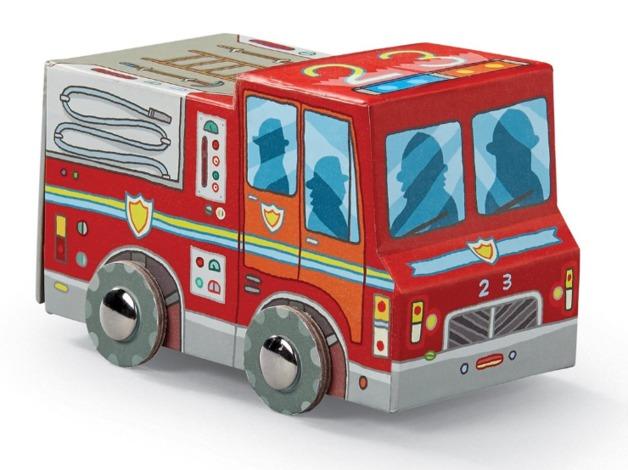 Crocodile Creek: Vehicle Shaped Puzzle - Mini Fire Truck